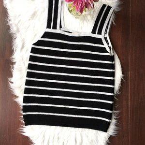 Loft sleeveless chunky knit sweater size L
